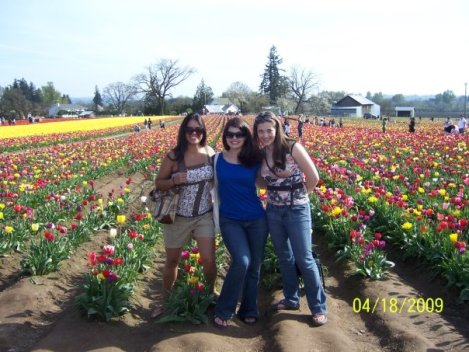 My friends and I at the Tulip Festival a few months before grad school started