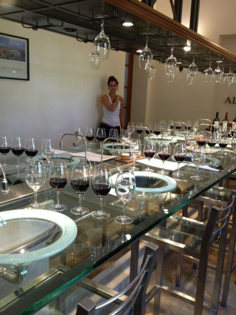 The professional tasting room at Alta Vista winery