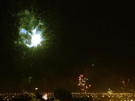 At midnight on Christmas Eve everyone in the city of Salta seems to light fireworkds