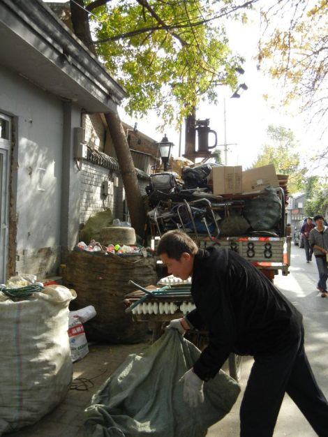 First time I actually saw the recycling process in Beijing