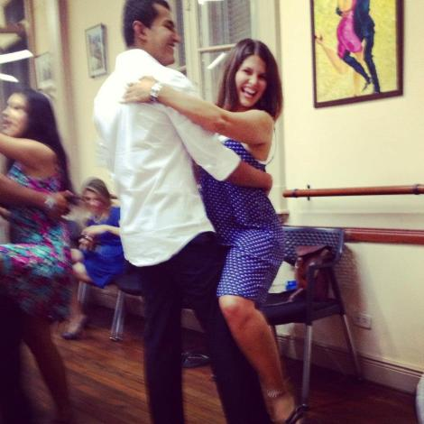 At my first Argentinian Tango lesson with a cute stranger