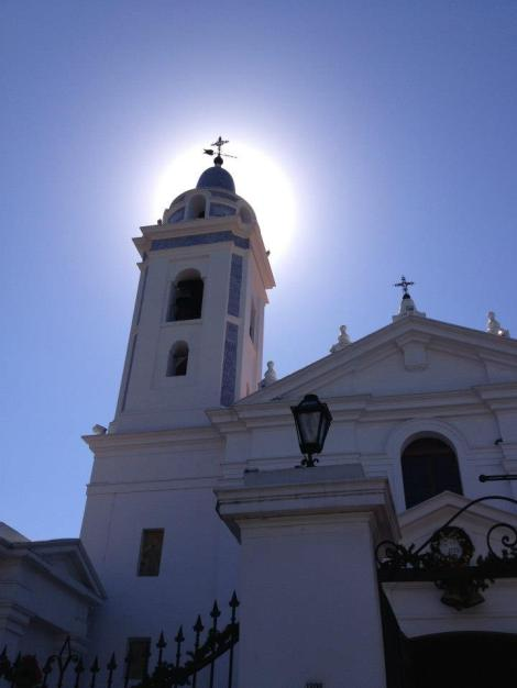 A church next to the Recoleta cemetery