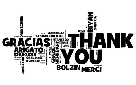 Thank you note in multiple languages photo cred: https://www.flickr.com/photos/wwworks/