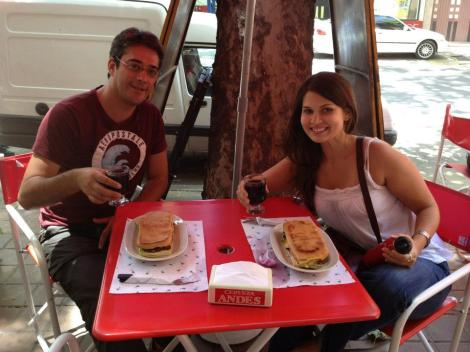 My Couchsurfing host Juan took me to one of his favorite sandwich places and I bought him lunch