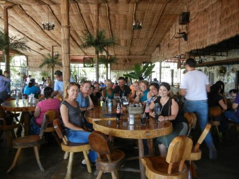 Welcome lunch with the staff in Ciudad Ojeda