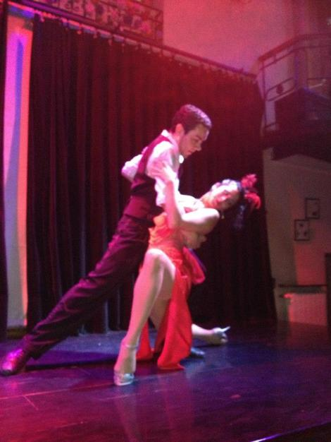 Front row view of the Complejo Tango show