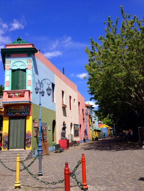 Famous street in La Boca neighborhood