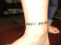 """Not all those who wander are lost"""