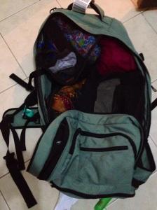 My Rick Steves backpack after Trinidad