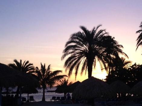 Sunset at the all inclusive Sunscape!