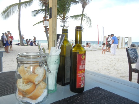 Our first meal in DR was right on the beach at Hurucan
