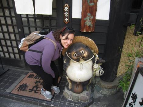 Sarah and a Tanuki