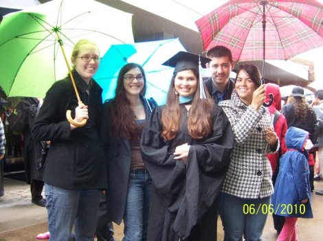 Graduating from Lewis & Clark with my Master's degree in typically rainy Portland weather