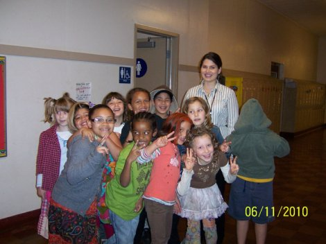 My second grade class on Wacky Hair Day in Portland