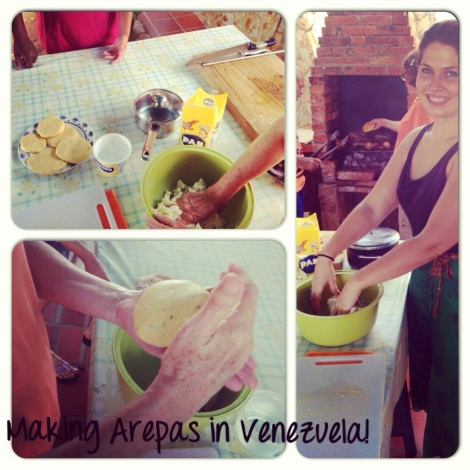 Arepas with friends are also fun