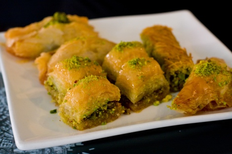 I love baklava! Photo Cred https://www.flickr.com/photos/garrettziegler/4988075085/in/photolist-8AMbWz-BRJDu-HTGRw-5Fi3Zw-4eQkSi-6xeJt-7T1dFk-adYMSK-7QnRm8-7Qrc2S-7QnRjg-5FdKWn-65K3UP-7HJZjh-7QnRhH-5yE43P-4SmMFF-7x6ok1-7ER1NV-61EXQd-jPvmz-83dRxM-bUfg6D-cfpd6-edGo2s-dJs4GR-dJs3Zv-dJxuMW-dJxusd-dobrGb-4fp1dN-9u5FRk-dJs2J6-5JZvz7-dobxZV-8jegtb-8jb1tF-7hhWx9-eb98mj-82UFFr-dHxiv4-bV7D3v-5HwJe-cg8VA-eq5FK-5QoU1-dJs4kH-83h1d7-9da4ZF-9CFCdW