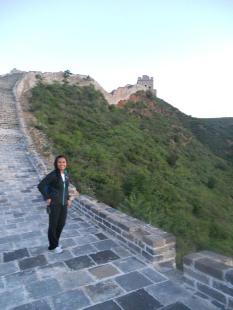Sunrise on the Great Wall after a surprise, all-night hike.