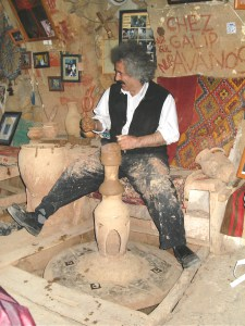 Learning to create pottery at the famous Chez Galip, Avanos, Turkey