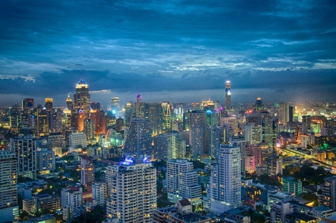 Big city Bangkok Skyline Photo Cred https://www.flickr.com/photos/eustaquio/9699604924
