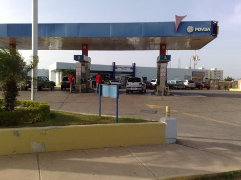 Typical Venezuelan gas station. Photo cred: http://upload.wikimedia.org/wikipedia/commons/a/a7/Estaci%C3%B3n_de_servicio_Santa_Irene,_Punto_Fijo.JPGhttp://upload.wikimedia.org/wikipedia/commons/a/a7/Estaci%C3%B3n_de_servicio_Santa_Irene,_Punto_Fijo.JPG