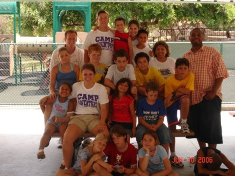 This is a pic of my whole tiny camp while I was a Camp Director in Gaeta, Italy