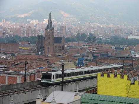 Metro in Medellin. Photo cred http://upload.wikimedia.org/wikipedia/commons/b/b5/Metro_de_Medell%C3%ADn-_Medellin_metro.jpg