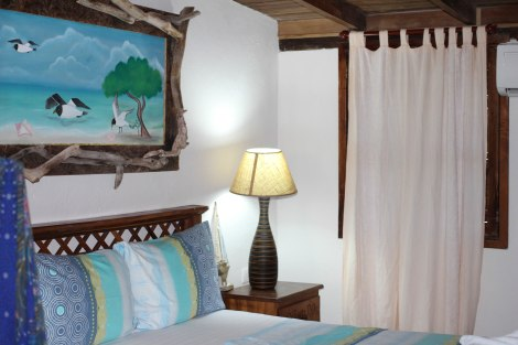 This is a pic of the spacious and rustic room I stayed in at Sueno del Mar