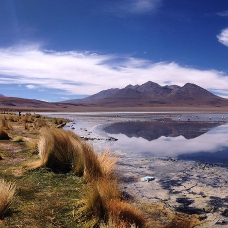 I took this pic of one of the lagoons in the SW of Bolivia two days outside of the Salar de Uyuni