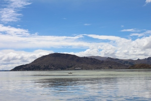 A view of Lake Titicaca as I'm getting on the boat