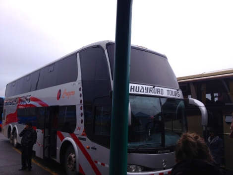 Waiting for my bus in Puno