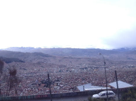 My first view of La Paz as I arrived by bus wasn't so pretty.