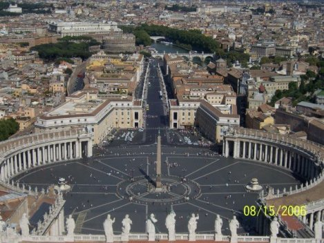 I took this from the top of St. Peter's Basilica (Holy See) during the last few weeks I was in Europe
