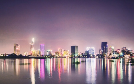 Saigon lights photo cred https://www.flickr.com/photos/rsnguyen/8757345695