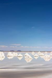 Little mountains of salt