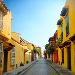 My favorite pic of Cartagena that I took before the tourists woke up. Love the colors!