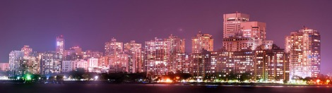 Mumbai skyline at night Photo cred https://www.flickr.com/photos/ericwehmeyer/15047414357