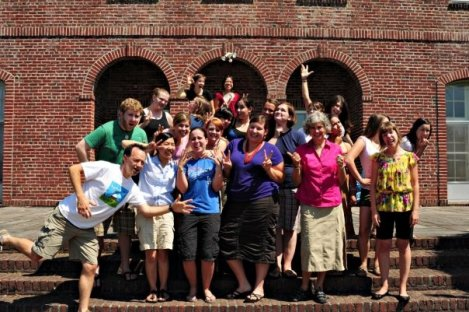 My Lewis & Clark Cohort acting silly (I'm in the back right with my hand in the air)
