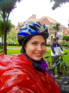 The rain didn't stop us from biking all over the city