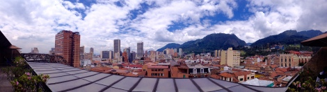 I took this pic of the Bogota skyline from the fifth floor of the Library across from the Botero Museum