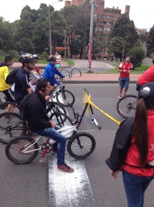 I thought it was interesting that there was someone enforcing the traffic laws for the cyclists at the Ciclovia