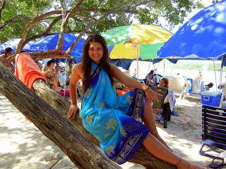 Enjoying the beach in Venezuela 2013