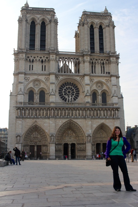 The beautiful Notre Dame early in the morning