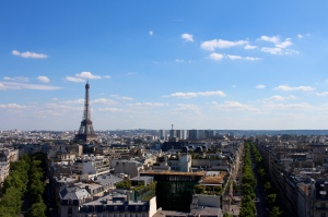 Just one of many gorgeous views from the top of the Arc de Triomphe