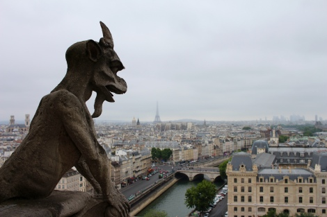 Maybe it is due to the cartoon show I watched as a child, but I LOVED the gargoyles at the Notre Dame