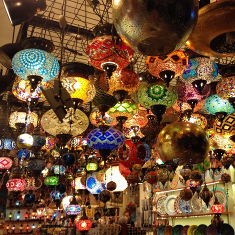 I love all of the colorful lanterns but I was too afraid that they would break to buy one myself