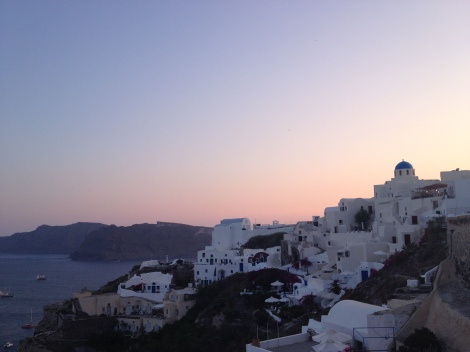 Sunset in Oia from a random restaurant