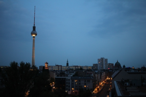 A view of the TV tower from my hostel rooftop bar