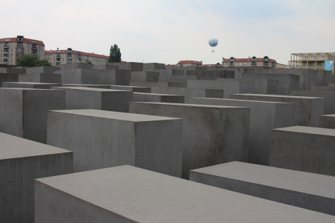 The Holocaust Memorial site with more than 2,711 concrete slabs