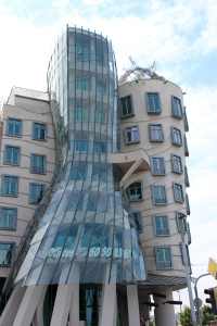 We just stood across the street for pretty decent views of the Dancing House aka The Fred and Ginger House