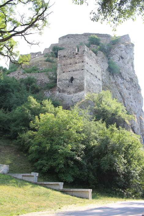 Devin Castle at about the place that we should have entered the ruins